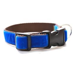 'Archie' Royal Blue Velvet Collars & Leashes