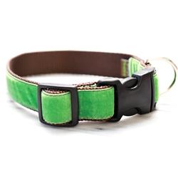 'Oscar' Green Velvet Collars & Leashes