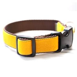 'Belle' Mustard Yellow Velvet Collars & Leashes
