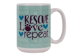 Rescue Love Repeat - Big Mug