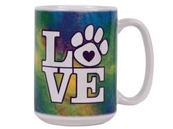 Tie Dye LOVE - Big Mug