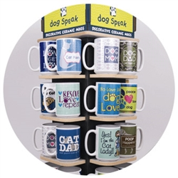 Big Mug (15oz) Assortment - includes 4 each of 12 designs with FREE rotating display!