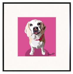 Framed Print: Beagle Looking Up