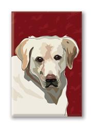 Labrador, Yellow - Fridge Magnet