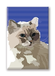 Cat, Ragdoll - Fridge Magnet