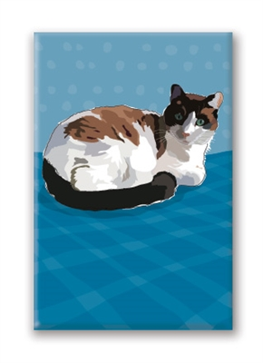 Cat, Calico - Fridge Magnet
