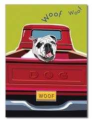 Birthday:  English Bulldog and Red Truck