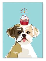 Birthday:  Shih Tzu Cupcake