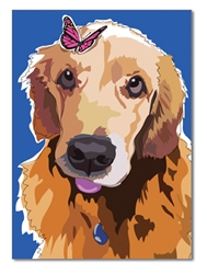 Birthday: Golden Retriever & Butterfly