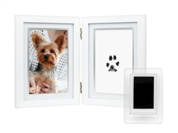 Dog or Cat Paw Print Pet Keepsake Photo Frame With Pet Pawprint Imprint Kit