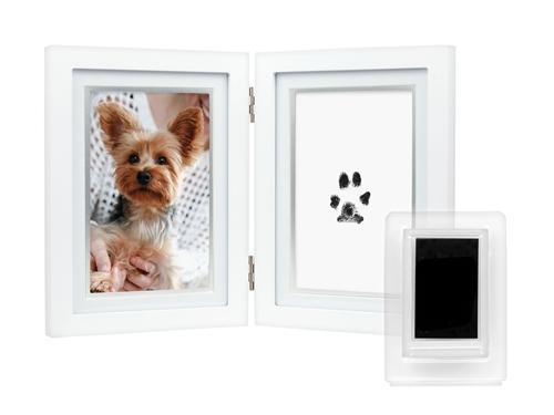 Dog or Cat Paw Print Pet Keepsake Photo Frame With Pet Pawprint Imprint Kit