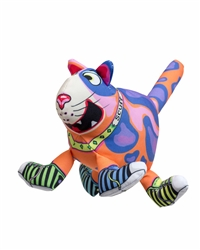 "Scuff Medium Dog Toy - 4.5"" That Sneaky Cat!"