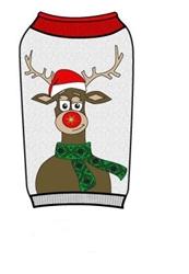 LED Light Up Dog Sweater -  Reindeer w/Antlers
