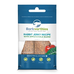 Rabbit Jerky Recipe with Apple & Kale Blend 2-pk.-Flow Pack (Mini Case)