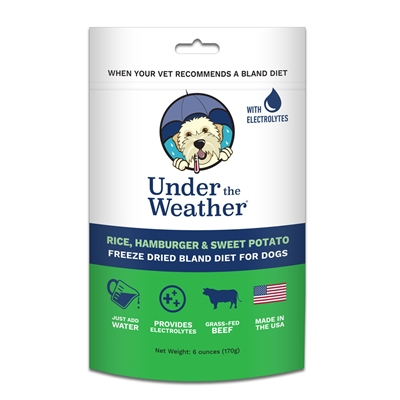 Rice, Hamburger, & Sweet Potato for Dogs - 6oz bags of meal mix by Under the Weather