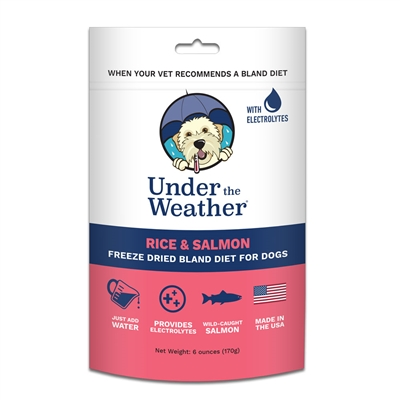Rice & Salmon for Dogs  - 6oz bags of meal mix by Under the Weather