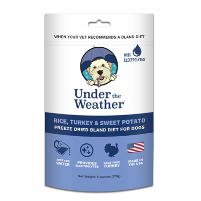 Rice, Turkey & Sweet Potato for Dogs - 6oz bags of meal mix by Under the Weather