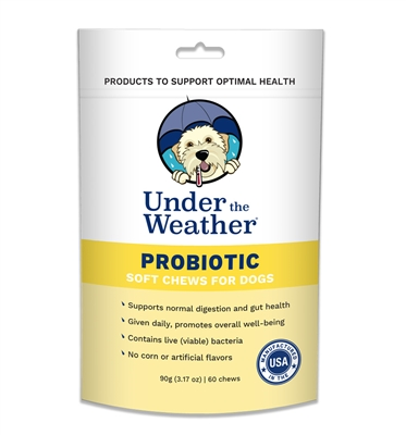 Probiotic Soft Chew for Dogs - 60 chews per pouch by Under the Weather