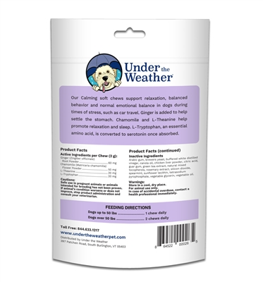 Calming Soft Chew for Dogs - 60 chews per pouch by Under the Weather