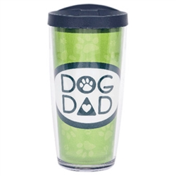 Dog Dad w/ Navy Lid - 16 oz Thermal Drinkware