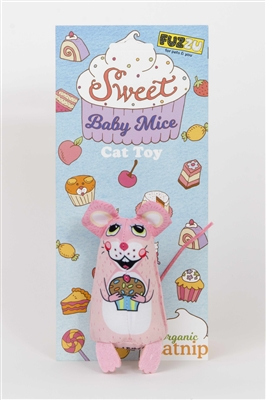 Cupcake Cat Toy - Sweet Baby Mice