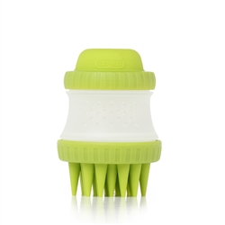 Dexas Popware for Pets ScrubBuster Silicone Dog Washing Brush with Built-in Shampoo Reservoir