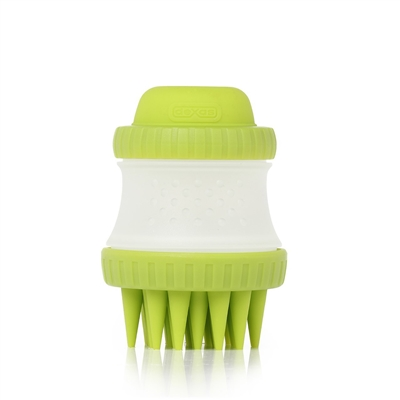 ScrubBuster  by Dexas Popware for Pets ScrubBuster Silicone Dog Washing Brush with Built-in Shampoo Reservoir