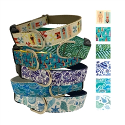 Coastal Collection Ribbon Dog Collars & Leashes by Poochie-Pets