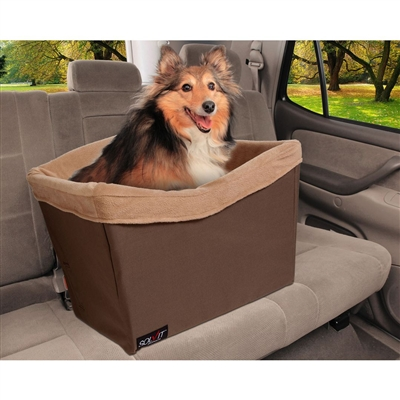 Brown Happy Ride™ Dog Safety Seat