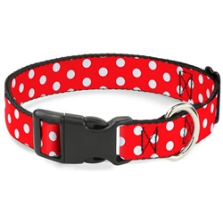 Minnie Mouse Red & White Polka Dot Quick-Release Collar and Lead