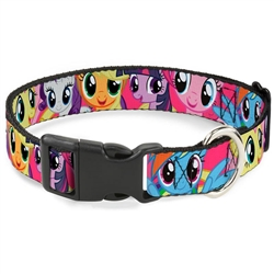 My Little Ponies Close Up Fuchsia Quick-Release Collar and Lead