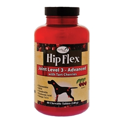 Overby Farm Hip Flex Joint Level 3 Advanced Care with Tart Cherries for Dogs, Chewable Tablets, Made in USA