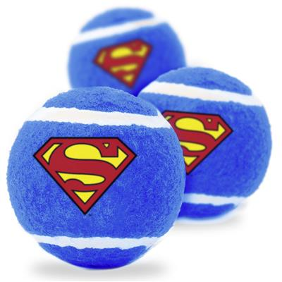 Superman Squeaky Tennis Ball 3-PACK