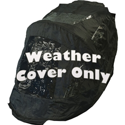 Black Weather Cover For Excursion No-Zip Pet Strollers