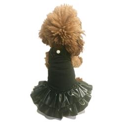 Let's Rock! Pleather Dog Tutu Dress