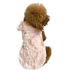 Bella Luxury Fur Coat, Blush