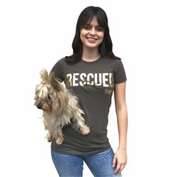 Human's Rescued, Brown T-Shirt