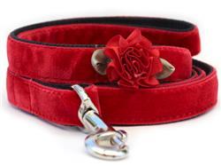 Mistletoe Red Velvet Dog Leash