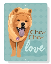 """Chow Chow Love sign - 9"""" x 12"""""""