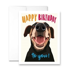 Happy Birthday To You (Mutt) Greeting Car- Pack of 6 cards