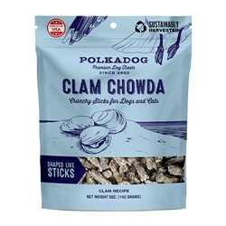Clam Chowda Crunchy Sticks by Polka Dog