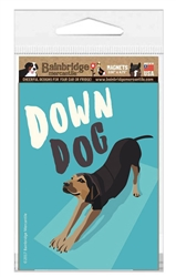 "Down Dog Magnet - 3.56"" x 4.75"""