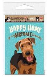 "Airedale Terrier - 3.56"" x 4.75"""