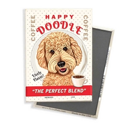 Goldendoodle - Happy Doodle Coffee MAGNETS