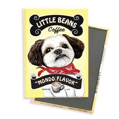 Shih-Tzu - Little Beans Coffee MAGNETS