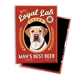 Yellow Lab - Man's Best Beer MAGNETS