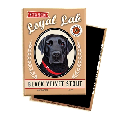 Black Lab - Black Velvet Stout MAGNETS