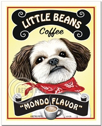 Little Beans Coffee - 8x10 Shih-Tzu Art Print