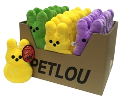 "PDQ 48pc 8"" Bunny (green,yellow, purple)"