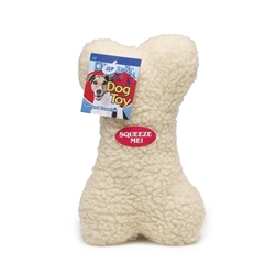 "Plush Fleece 9"" Bone"